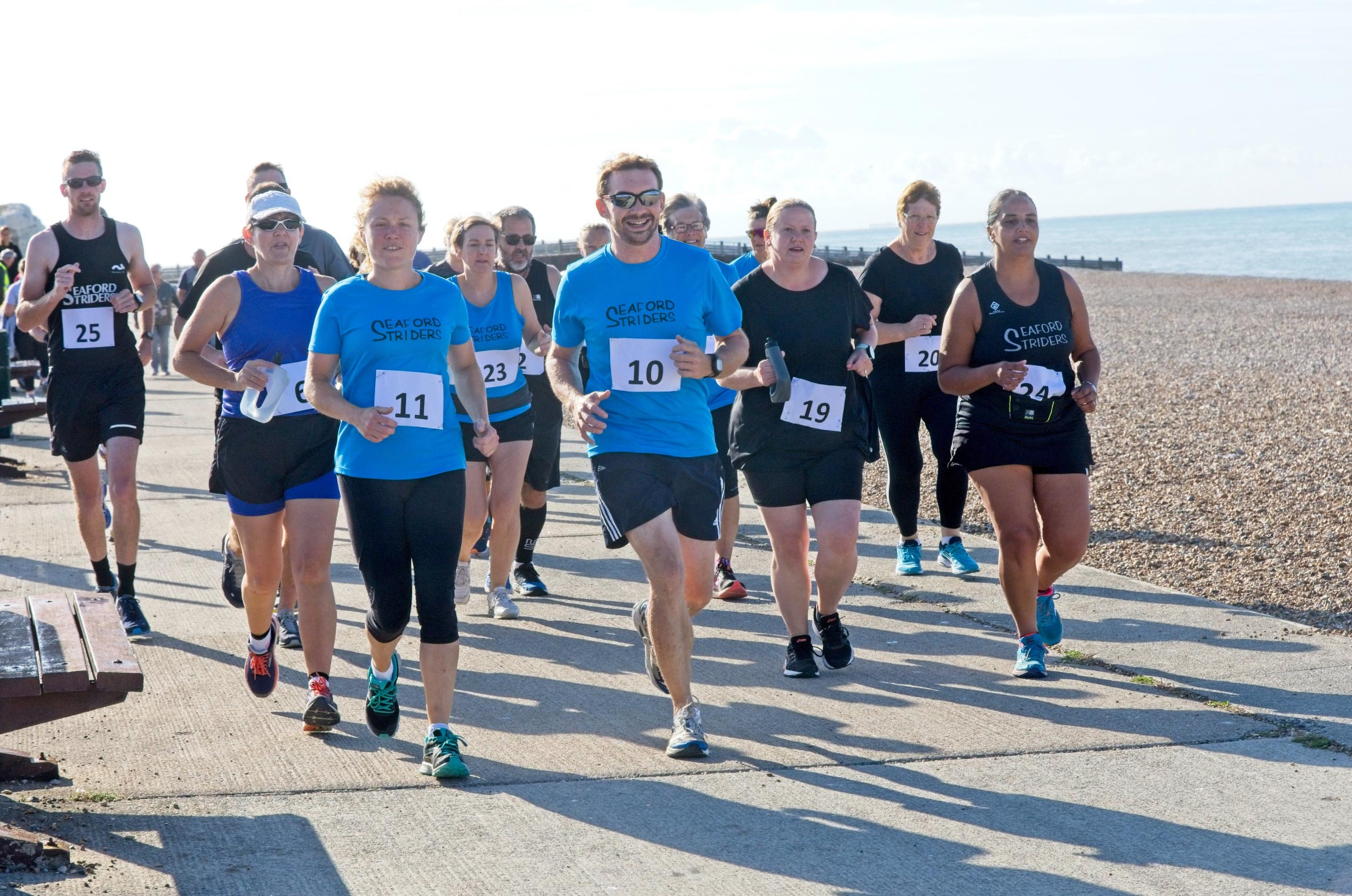 Seaford Striders Running along Seaford Seafront