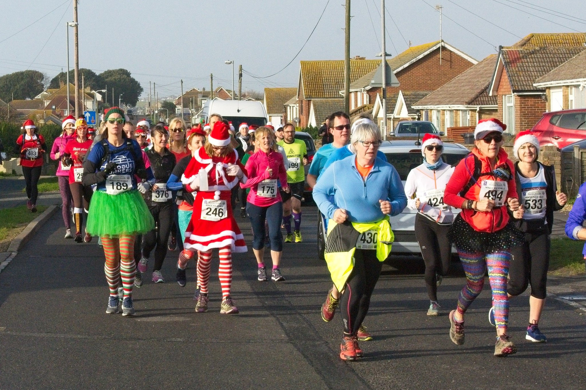 Mince Pie 10 Run runners dressed in xmas outfits
